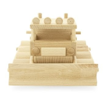 Wooden Toy Snow Plough Truck