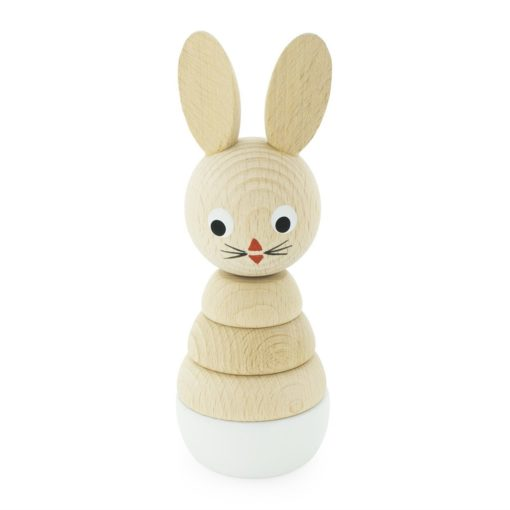 Wooden Toy Rabbit Puzzle Little French Heart