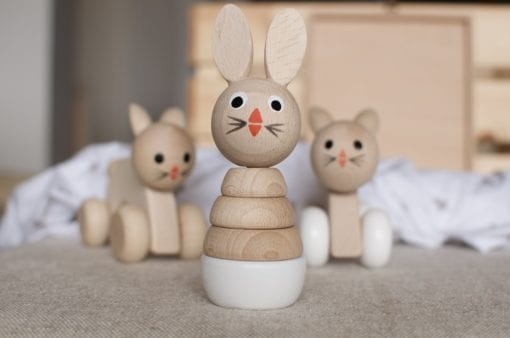 wooden toy rabbit puzzle 2