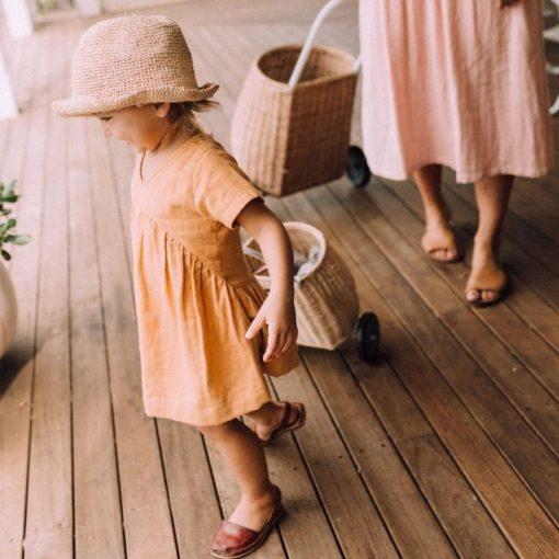 Olli Ella Clover Toddler Dress Gold
