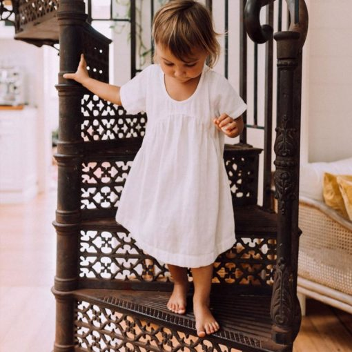 A Clover Toddler Dress Ivory Little French Heart