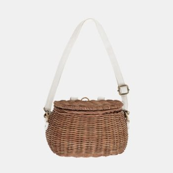 Mini Chari Bag Natural- Little French Heart