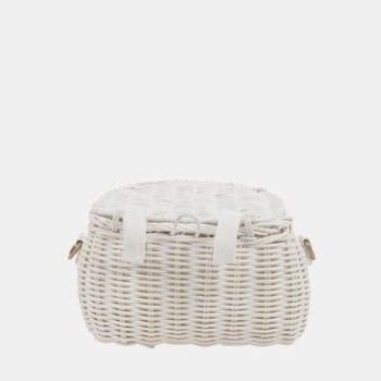 Mini Chari Bag White- Little French Heart
