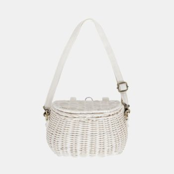 Mini Chari Bag White- Little French Heart