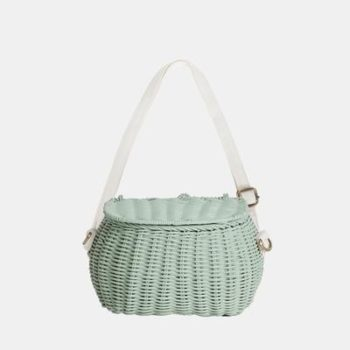 Mini Chari Bag Mint- Little French Heart