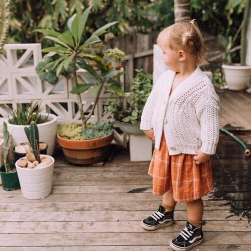Olli Ella Clover Toddler Dress Rust Check
