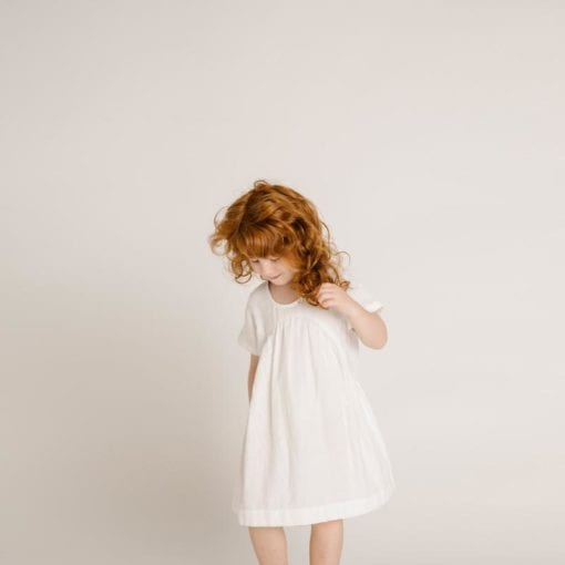 Olli Ella Clover Toddler Dress Ivory