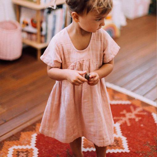 Olli Ella Clover Toddler Dress Rose Stripe