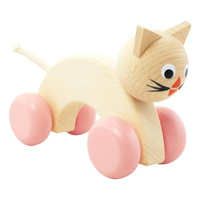 Wooden Push Along Cat