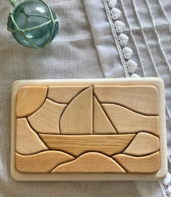 Tateplota Sailing Boat Puzzle Little French Heart
