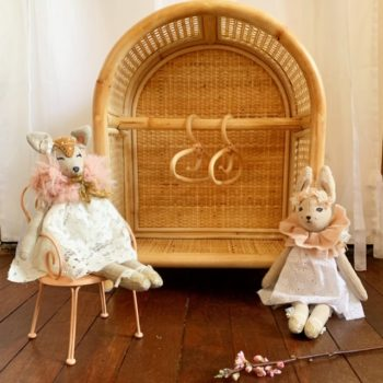 Tiny Harlow Rattan Dolls Storage