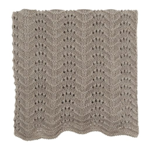 Camille Handknitted Llama Blanket - Mushroom