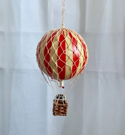 Vintage Hot Air Balloon Red