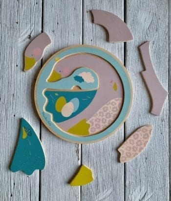 Le Voyage d'Olga Moulin Roty Goose Wooden Puzzle