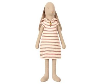 Maileg Sailor Rabbit Large Red Striped Dress