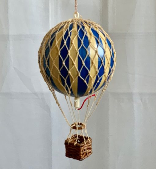 Vintage Hot Air Balloon Blue