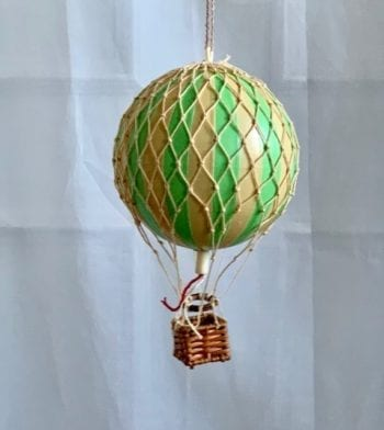 Vintage Hot Air Balloon Mobile Paris Green