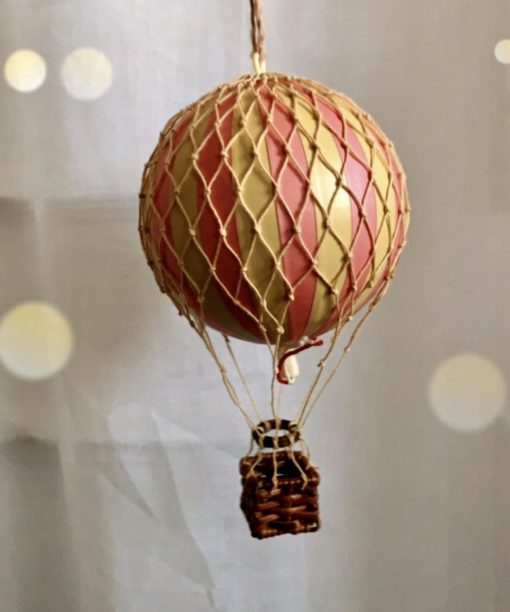 Vintage Hot Air Balloon Mobile Pink Small