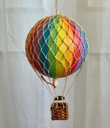 Vintage Hot Air Balloon Rainbow