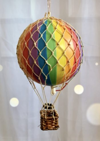 Vintage Hot Air Balloon Rainbow Small