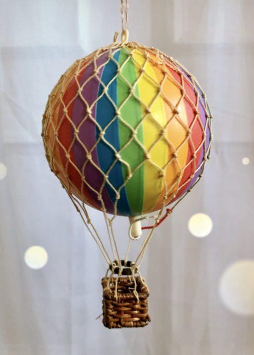 Vintage Hot Air Balloon Rainbow Small