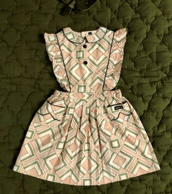 Bonjour Diary Apron Dress Tile