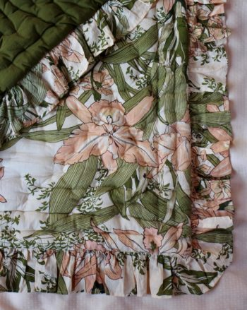 Bonjour Diary Flounce Quilted Blanket Orchid