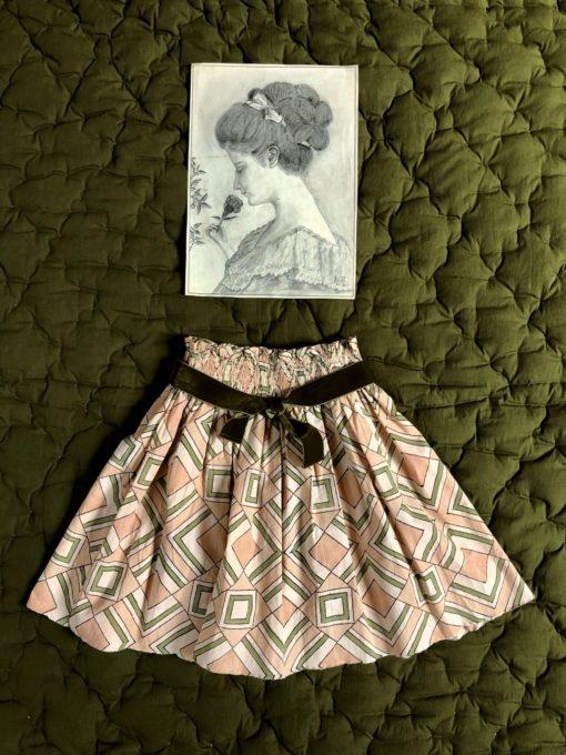Bonjour Diary Knee Length Skirt Tile Print