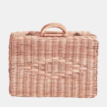 Olli Ella Rattan Toaty Trunk Rose - Little French Heart
