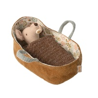 Maileg Mouse Baby In Carrycot