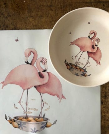 Flamingo dinner set