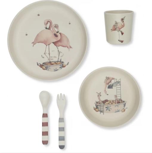 Flamingo dinner set little french heart
