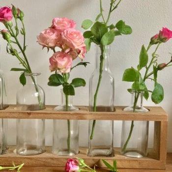 six bud vase Little French Heart