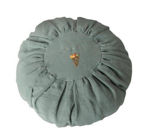 Maileg Cushion Round Dusty Blue