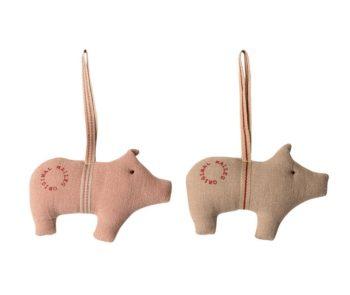 Christmas Pigs Cloth Decoration