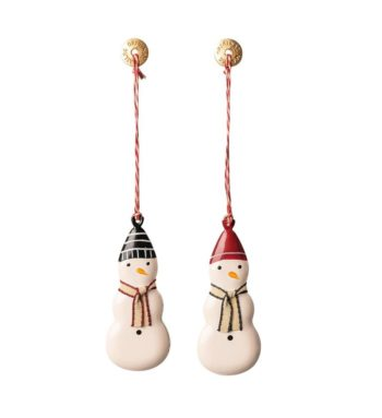 Christmas Snowman Metal Decoration