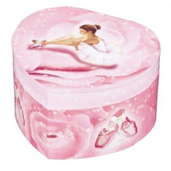 Musical Jewellery Box Ballerina Heart Large