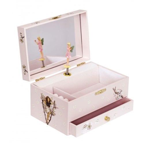 Musical Jewellery Box Flower Fairies Cherry interior