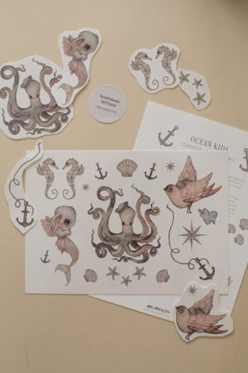 Mrs Mighetto Temporary Tattoos Ocean Kids