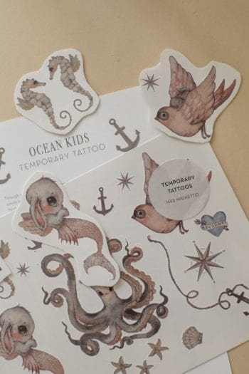 Mrs Mighetto Temporary Tattoos Ocean Kids