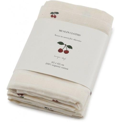 Three Pack Muslin Cloth Cherry package