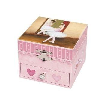 Trousselier musical-cube-box-ballerina Little French Heart