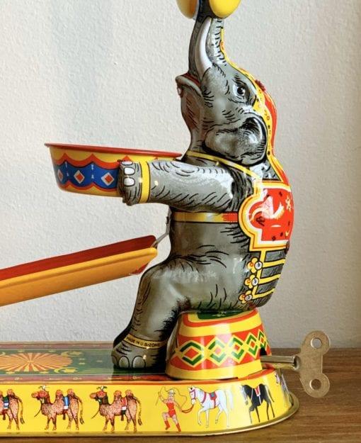 Vintage Elephant Tin Toy Collectible Gift