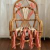 French Vintage Rattan Chair Rose Little French Heart
