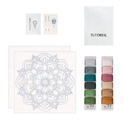 Numero 74 Hoop Kit Mandala Nature Contents