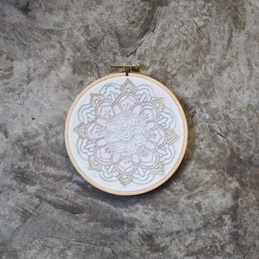 Numero 74 Hoop Embroidery Kit Mandala Nature