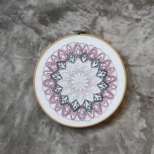 Numero 74 Hoop Kit Mandala Rose