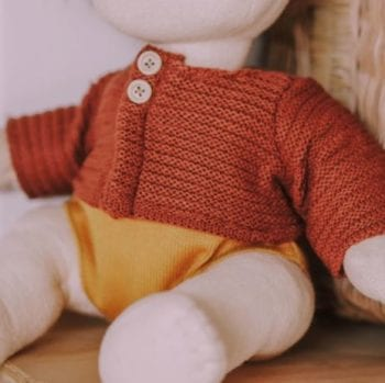 Olli Ella Dinkum Doll Cardigan Chestnut
