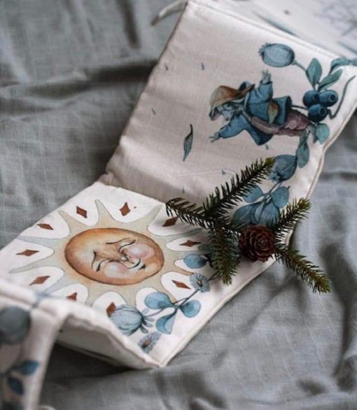 Fabric book Blue Organic