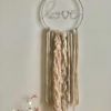 LED Love Dreamcatcher Beige Pink Silver Medium